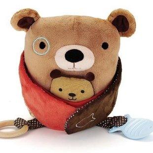 عروسک جغجغه ای بچه بغل خرس skip hop