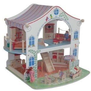 خانه چوبی 2طبقه عروسکی roba کد9452