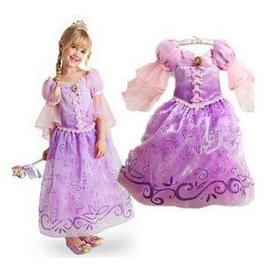 لباس راپونزل به همراه تل و برس