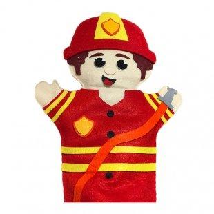 عروسک نمایشی نمدی آتش نشان مدل 1251