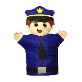 عروسک نمایشی نمدی پلیس مدل 1251