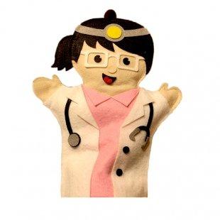 عروسک نمایشی نمدی خانم دکتر مدل 1251