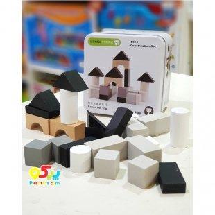 اسباب بازی ساختنی بلوک چوبی خانه سازی مدل 5124