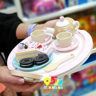 اسباب بازی چوبی ست چای خوری کودک مدل 9038
