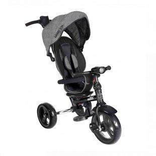 سه چرخه کودک تاشو با سایبان Kikka Boo رنگ طوسی تیره مدل Nikki 3in1