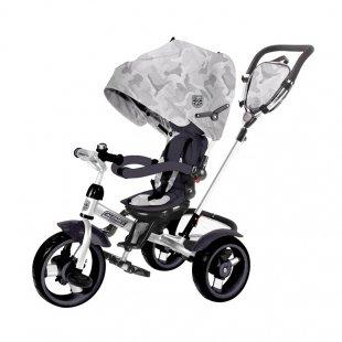 سه چرخه کودک چندکاره Kikka Boo رنگ طوسی مدل Alonsy