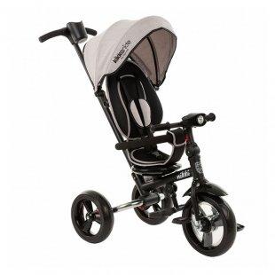 سه چرخه کودک تاشو با سایبان Kikka Boo رنگ طوسی روشن مدل Nikki 3in1