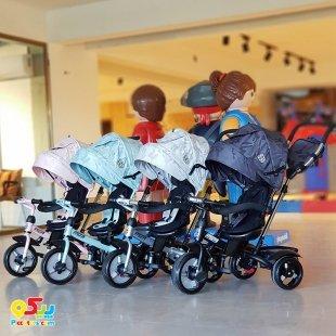 سه چرخه کودک با سایبان Kikka Boo رنگ صورتی مدل Alonsy