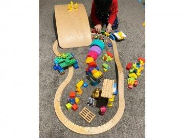 اسباب بازی چوبی قطار