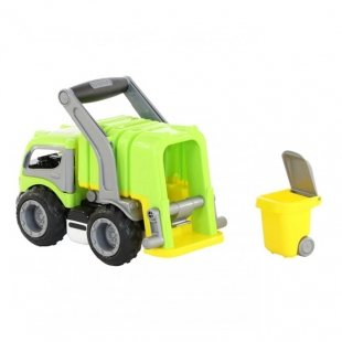 کامیون سبز با باربند سبز polesie مدل 44822