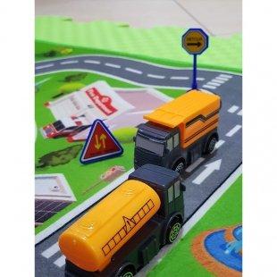 فرش ماشین بازی کودک با ماشین پلیس مدل 23315