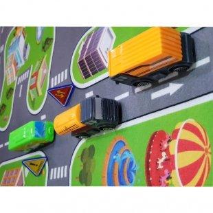 فرش ماشین بازی کودک با ماشین راهسازی مدل 23316