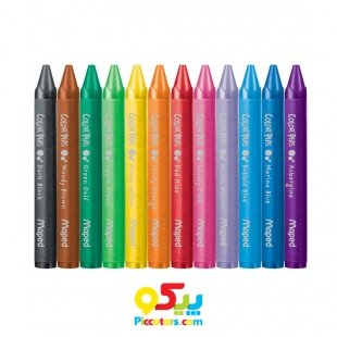 مداد شمعی 12 رنگ مپد Maped