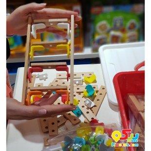 خرید اسباب بازی چوبی پیچ و مهره دار
