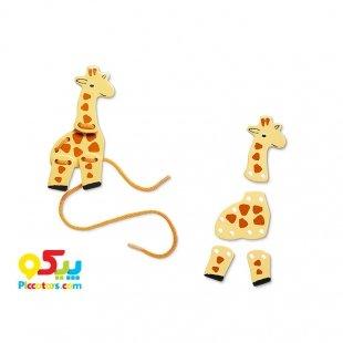 خرید اسباب بازی آموزش حیوانات چوبی