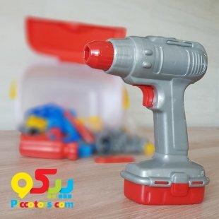 خرید دریل اسباب بازی با جعبه ابزار