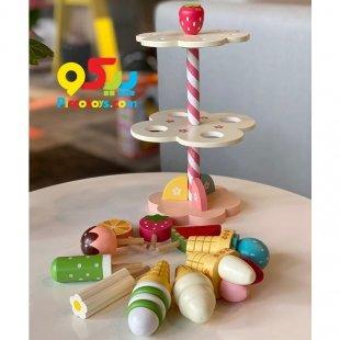 اسباب بازی چوبی بستنی و آبنبات