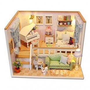 کیت خانه سازی چوبی مینیاتوری Because of you مدل m026
