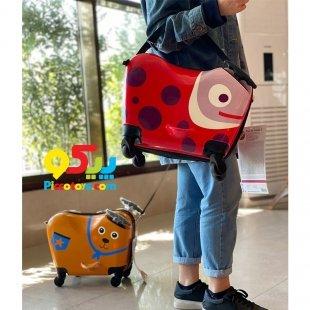 چمدان کودک اوپس طرح خرس چرخدار
