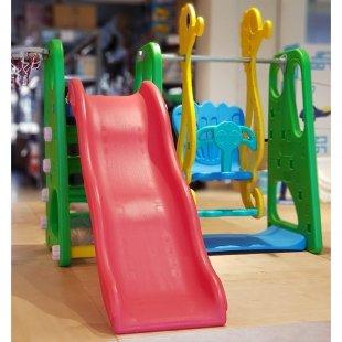 تاب و سرسره کودک با حلقه بسکتبال طرح ABC حروف انگلیسی سبز مدل 5016