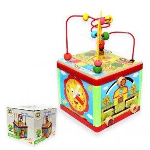 اسباب بازی مکعب هوش چوبی کد 0184