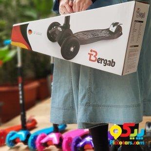 اسکوتر کودک مشکی مدل تاشو Bergab کد 40221