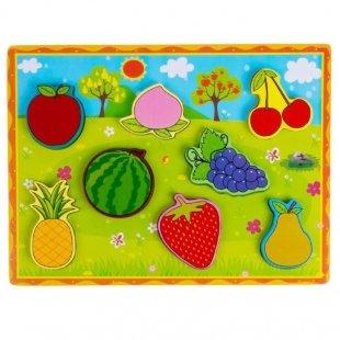 پازل چوبی جاگذاری میوه ها