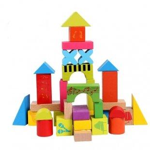بلوک خانه سازی چوبی 33 تکه مدل موسیقی