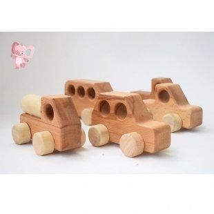 ماشین اسباب بازی چوبی کودک