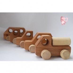 ماشین اسباب بازی چوبی پوپولوس