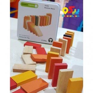 اسباب بازی چوبی دومینو