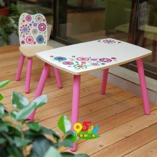 میز چوبی کودک پوپولوس طرح گل کد 10425