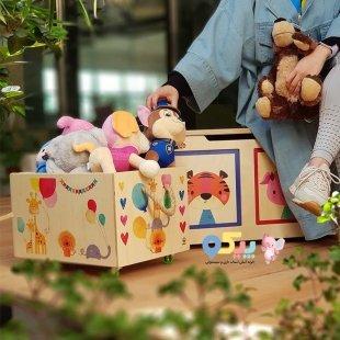 خرید باکس اسباب بازی چوبی پوپولوس