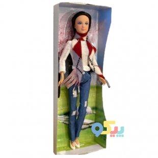 خرید عروسک باربی دفا با لباس بافت سفید کد 8366