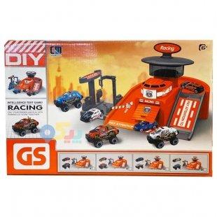 پارکینگ اسباب بازی مدل ریسینگ با ماشین آبی کد 55952