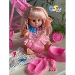 خرید عروسک دخترانه جیشی با کالسکه