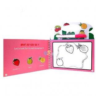 کتاب نقاشی با ماژیک جادویی طرح میوه کد ch312