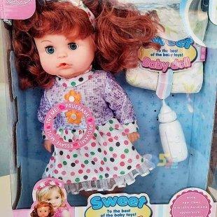 عروسک دخترانه جیشی با لباس صورتی کد hx3594