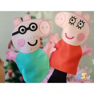 فروش عروسک نمایشی نمدی خانواده پپاپیگ کد 3846