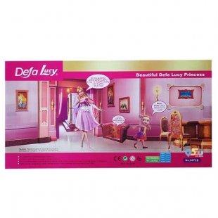 عروسک باربی با لباس اضافه مدل Defa Lucy کد 6073B