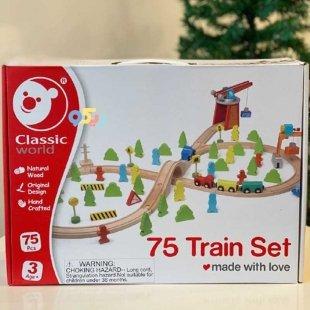 خرید اسباب بازی چوبی ریل قطار کلاسیک ورلد