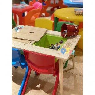 خرید میز کودک چوبی با دو باکس بزرگ مدل 5556
