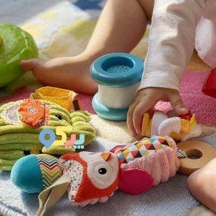 خرید اسباب بازی نوزاد آویز تخت و کریر جغد infantino مدل 5388