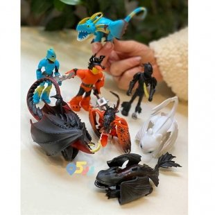 خرید اسباب بازی اژدها سواران 8 عددی کد 6622