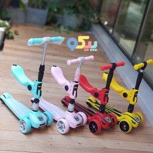 خرید اسکوتر کودک تاشو چراغ دار