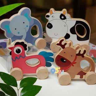 قیمت اسباب بازی چوبی گاو چرخدار پوپولوس انیموو Animove کد 10715