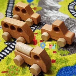 خرید ماشین اسباب بازی چوبی هایکار
