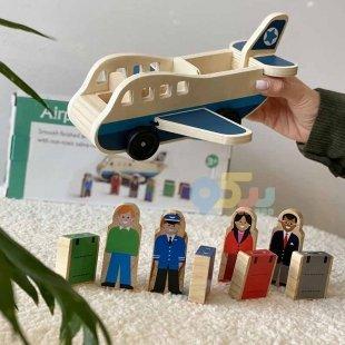 خرید هواپیما چوبی اسباب بازی