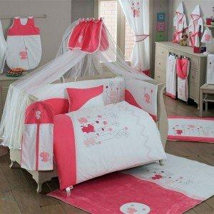 سرویس خواب ۹تکه کودک elephants pink  kidboo
