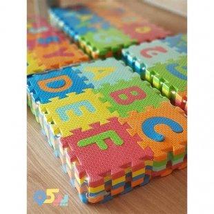 خرید پازل فومی آموزشی حروف و اعداد انگلیسی